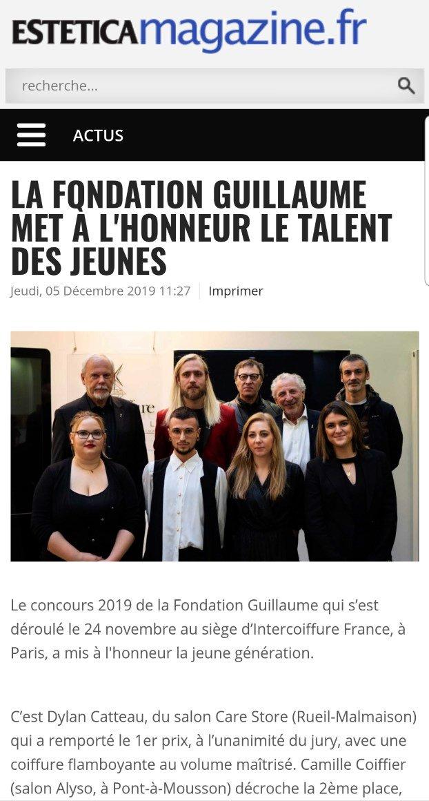La Fondation Guillaume sur le site d'Estetica